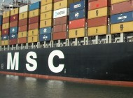 MSC mega boxship collides with engineering ship off China