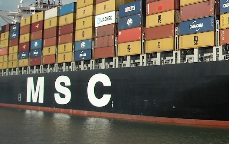 MSC mega boxship collides with engineering ship off China