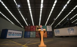 UK prime minister launches economic plan from Port of Felixstowe