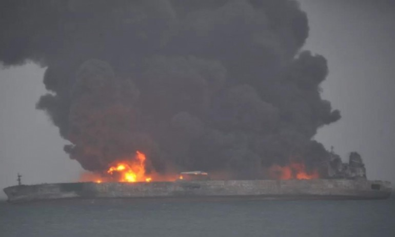 Iranian tanker collides with Chinese bulker, entire crew of 32 missing