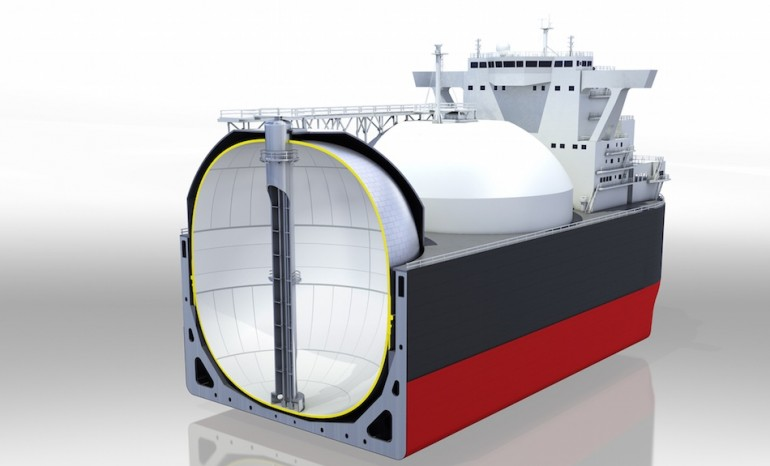 Kawasaki Heavy markets new LNG tank for the expanded Panama Canal