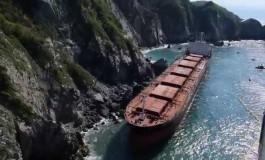 Oil leaking from stricken Mexican bulker