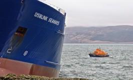 Lysblink Seaways towed to dry dock for repair