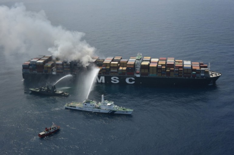 MSC suspects hazardous cargo misdeclaration sparked fire on giant boxship