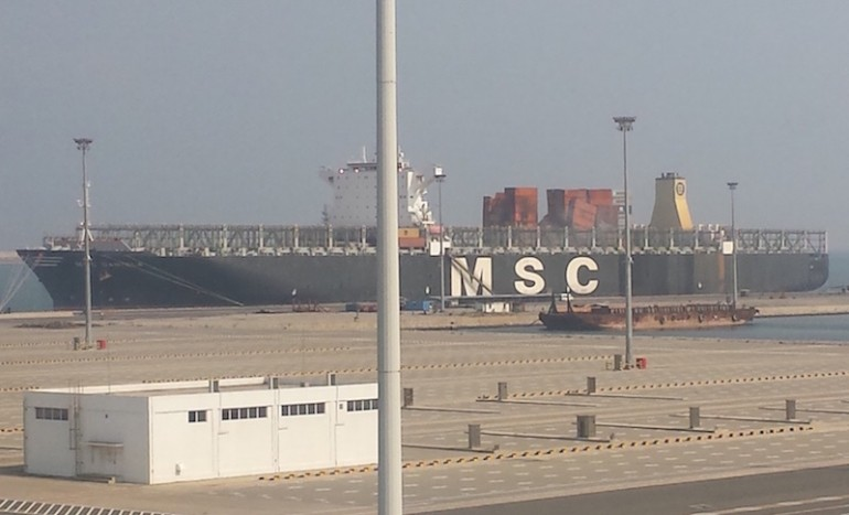Exclusive image shows MSC Daniela fire damage