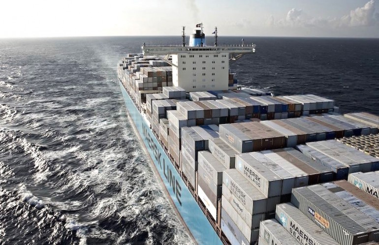 Maersk containership towed to safety after losing power off Alaska