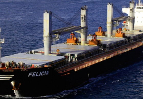 Bulk carrier runs aground in Delaware River