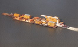 Adrift Canadian supply barge nears Russian coast
