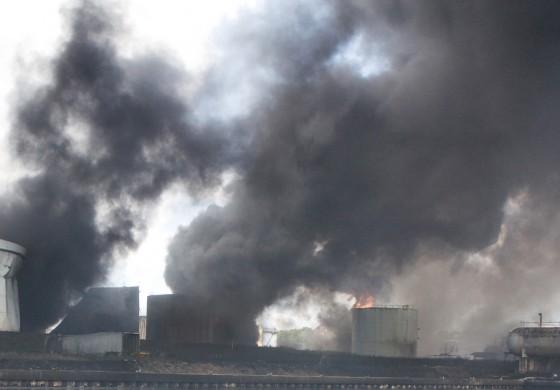 Fire crews battle huge storage tank blaze near Brazil's Port of Santos