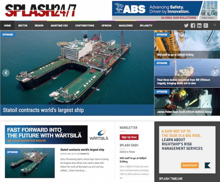 News site Splash debuts, promises to shake up maritime media sector