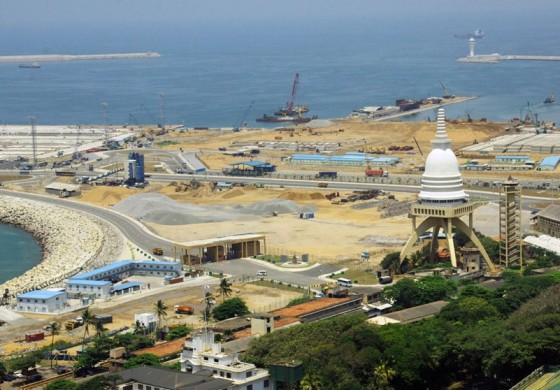 China urges Sri Lanka to restart port project