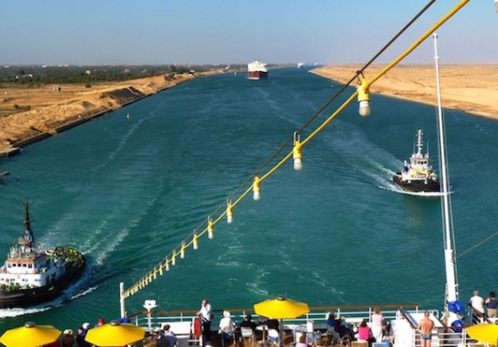 Two ships run aground along the Suez Canal