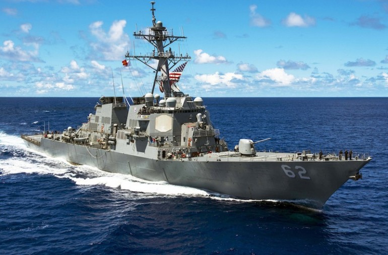 NYK Line boxship slams into side of US destroyer, seven sailors missing