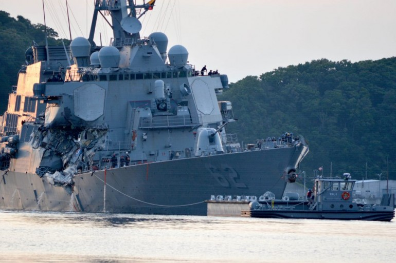 US Navy issues tender to haul damaged destroyer back home