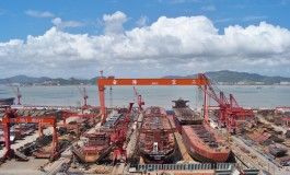 China Exim Bank provides $690m financing for 10 mega boxships at Jinhai Heavy Industry